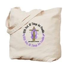 With God Hodgkin's Lymphoma Tote Bag