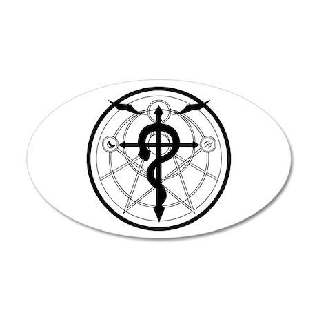 Transmutation Circle 38.5 x 24.5 Oval Wall Peel