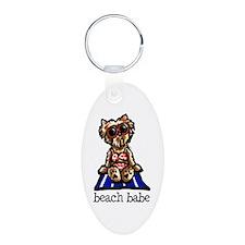 Beach Yorkie Keychains