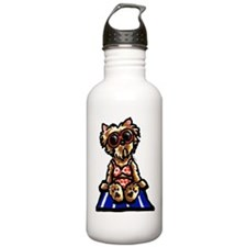 Beach Yorkie Water Bottle