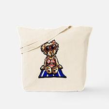 Beach Yorkie Tote Bag