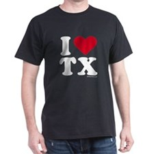 I Love Texas (TX) - Black T-Shirt