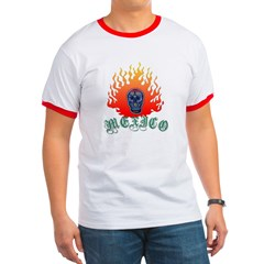 Mexico Flaming Skull T
