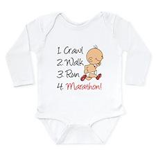 Crawl, Walk, Run Marathon Baby Suit
