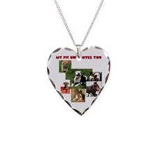 Unique Pit bull love Necklace