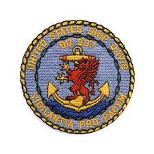 """USS DAVIS 3.5"""" Button"""
