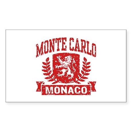 Monte Carlo Monaco Sticker (Rectangle)