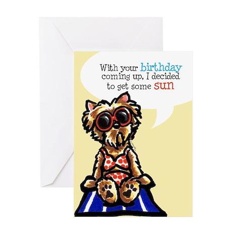 Funny Yorkie Birthday Greeting Card