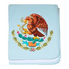 Mexico Coat of Arms baby blanket