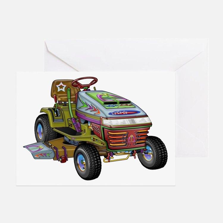 Designer Lawnmower Greeting Card