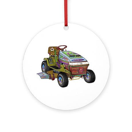Designer Lawnmower Ornament (Round)
