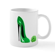 Emerald Green Stiletto Shoe a Mug