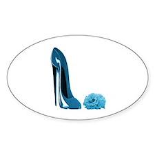 Periwinkle Blue Stiletto Shoe Decal