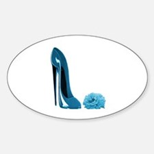 Periwinkle Blue Stiletto Shoe Decal