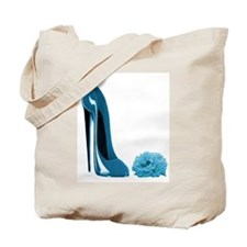 Periwinkle Blue Stiletto Shoe Tote Bag