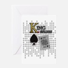 King of Spades Poker Design Greeting Card