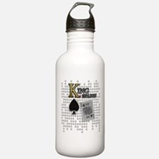 King of Spades Poker Design Sports Water Bottle
