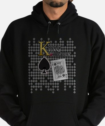 King of Spades Poker Design Hoodie (dark)