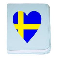 HEART FOR SWEDEN baby blanket