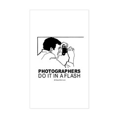 Photographers do it in a flash - Decal
