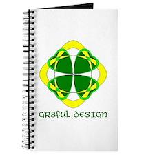 LUCKY 4 LEAF CLOVER - GR8FUL DESIGN Journal