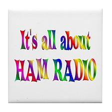 About Ham Radio Tile Coaster
