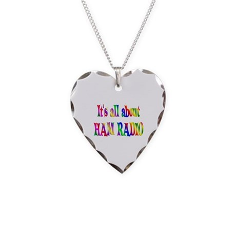 About Ham Radio Necklace Heart Charm