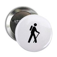 """Hiking Trail Image 2.25"""" Button"""