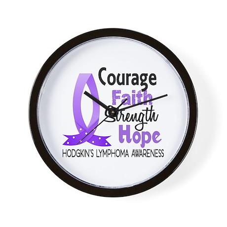 Courage Faith Strength Hodgkin's Lymphoma Wall Clo