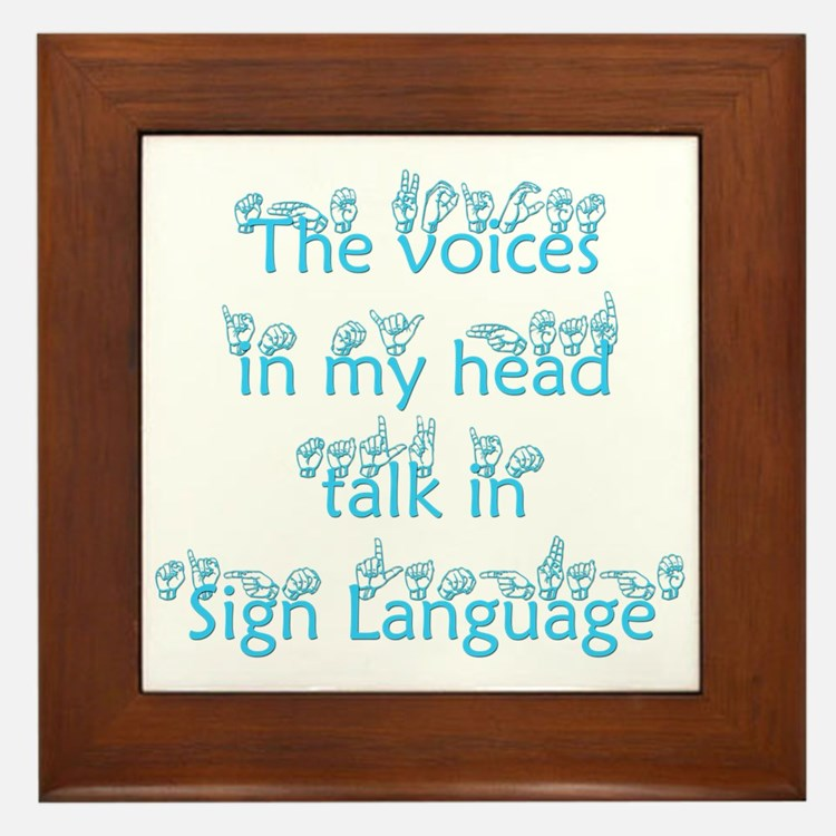 The voices in my head talk in Framed Tile