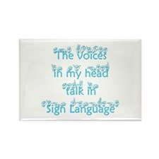 The voices in my head talk in Rectangle Magnet