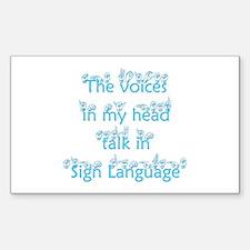 The voices in my head talk in Sticker (Rectangular