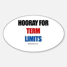 Hooray for Term Limits - Oval Decal