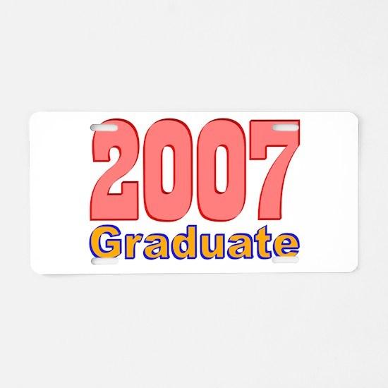 2007 Graduate Aluminum License Plate
