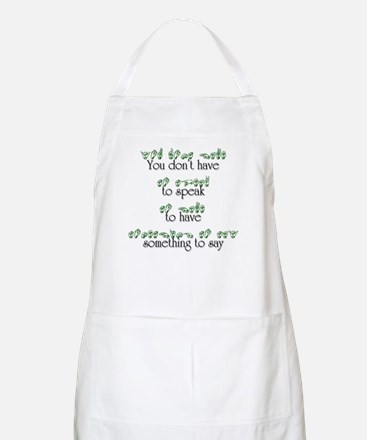 You don't have to speak... BBQ Apron
