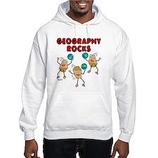 Three Geography Rocks Hoodie Sweatshirt