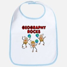 Three Geography Rocks Bib