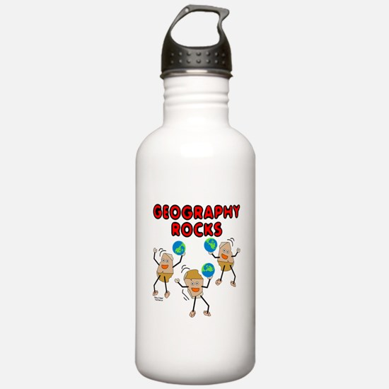 Three Geography Rocks Water Bottle