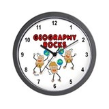 Geography Wall Clocks