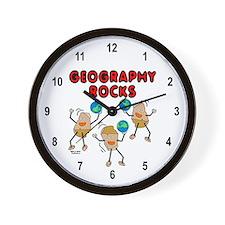 Three Geography Rocks Wall Clock