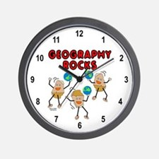 Three Geography Rocks Wall Clock