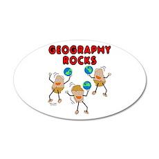 Three Geography Rocks 22x14 Oval Wall Peel