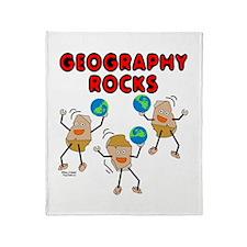 Three Geography Rocks Throw Blanket