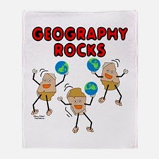 Three Geography Rocks Throw Blanket