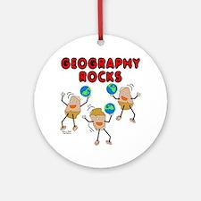 Three Geography Rocks Ornament (Round)