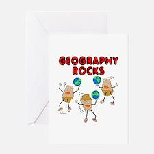 Three Geography Rocks Greeting Card