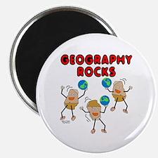 Three Geography Rocks Magnet