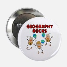 """Three Geography Rocks 2.25"""" Button (100 pack)"""
