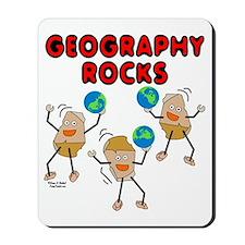 Three Geography Rocks Mousepad