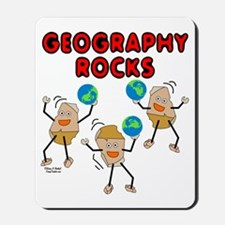 Three Geography Rocks Mousepad